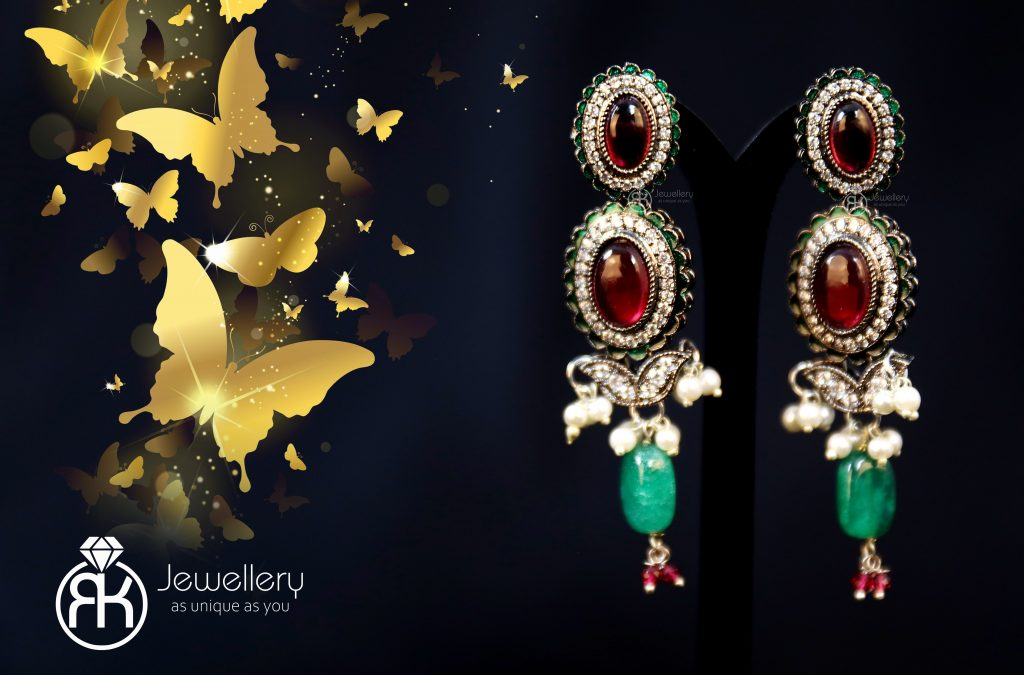 Stylish jewellery photoshoot